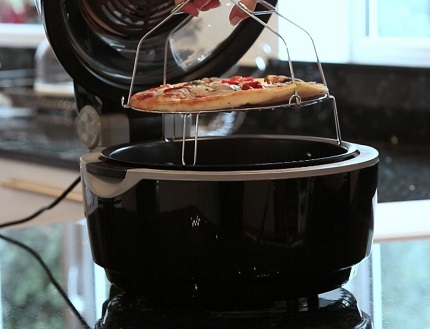 VonShef Turbo Air Fryer pizza