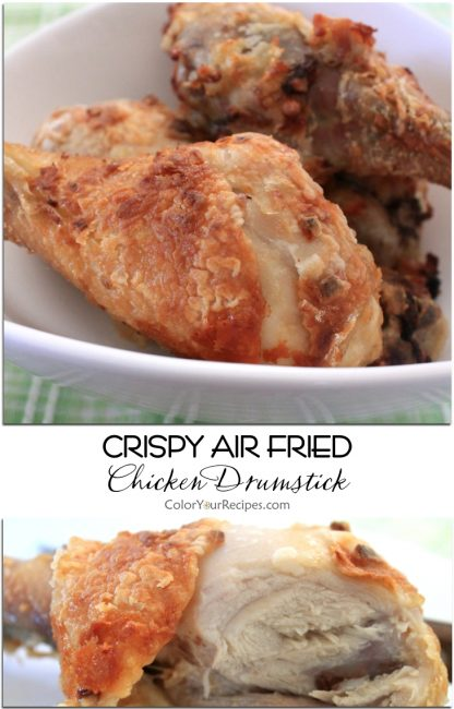 Crispy Air Fried Chicken Drumsticks